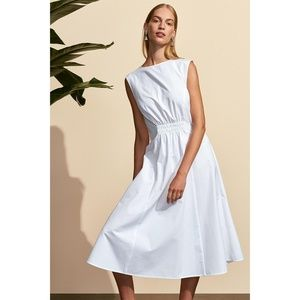 Cinched White Dress 48